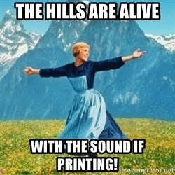Sound Of Music Lady - THE HILLS ARE ALIVE WITH THE SOUND IF PRINTING!