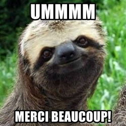Sarcastic Sloth - Ummmm  Merci Beaucoup!