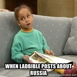 Olivia Cosby Show -  When LadBible posts about Russia
