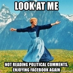 Sound Of Music Lady - look at me not reading political comments, enjoying facebook again