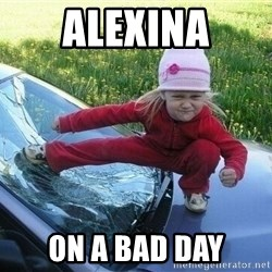 Angry Karate Girl - Alexina On a bad day