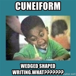 I love coloring kid - cuneiform wedged shaped writing.what???????