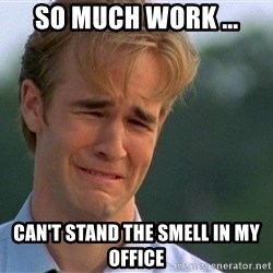 Thank You Based God - So much work ... Can't stand the smell in my office
