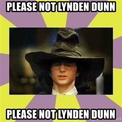 Harry Potter Sorting Hat - please not lynden dunn please not lynden dunn