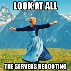 Sound Of Music Lady - LOOK AT ALL THE SERVERS REBOOTING