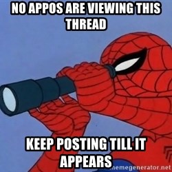 Spiderman Lunar Eclipse - NO APPOS ARE VIEWING THIS THREAD KEEP POSTING TILL IT APPEARS