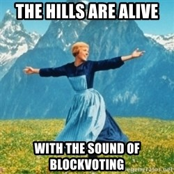 Sound Of Music Lady - The hills are alive with the sound of blockvoting