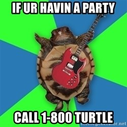 Aspiring Musician Turtle - IF UR HAVIN A PARTY CALL 1-800 Turtle