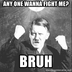 Disco Hitler - any one wanna fight me? Bruh
