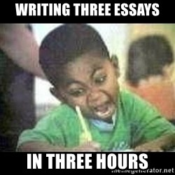 Black kid coloring - Writing three essays in three hours