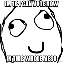 Derp meme - Im 18 i can vote now in this whole mess