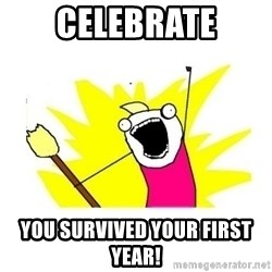 clean all the things blank template - Celebrate You survived your first year!