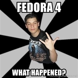 Metal Boy From Hell - Fedora 4 What happened?