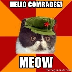 Communist Cat - hello comrades! meow