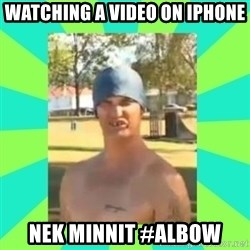 Nek minnit man - Watching a video on iPhone  Nek minnit #albow