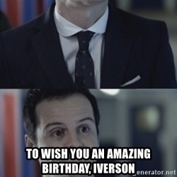 Misleading Moriarty -  To Wish You An Amazing Birthday, Iverson