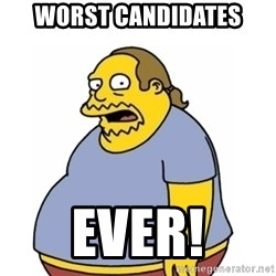 Comic Book Guy Worst Ever - worst candidates ever!