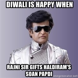Rajinikanth beyond science  -  Diwali is Happy When  Rajni sir gifts Haldiram's Soan Papdi