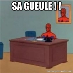 60s spiderman behind desk - Sa gueule ! !