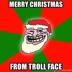 Santa Claus Troll Face - Merry Christmas From troll face