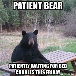 Patient Bear - Patient bear Patiently waiting for bed cuddles this friday