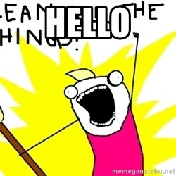 clean all the things - hello