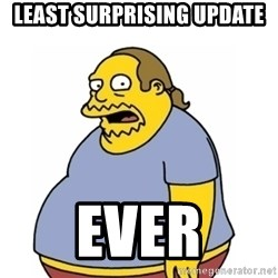 Comic Book Guy Worst Ever - least surprising update ever