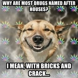 Stoner Dog - Why are most drugs named after houses? I mean, with bricks and crack...