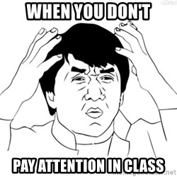 Cartoon Jackie Chan - When you don't pay attention in class