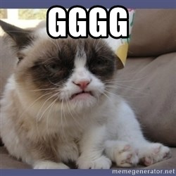 Birthday Grumpy Cat - GGGG
