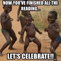Dancing african boy - now you've finished all the reading... Let's celebrate!!
