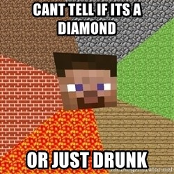 Minecraft Guy - cant tell if its a diamond or just drunk