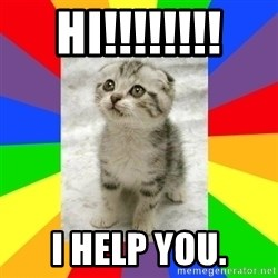 Cute Kitten - Hi!!!!!!!! I help you.