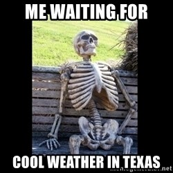 Still Waiting - Me waiting for cool weather in Texas