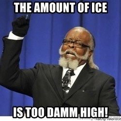 The tolerance is to damn high! - The amount of ice is too damm high!