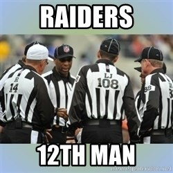 NFL Ref Meeting - Raiders 12th MAn