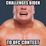 Brock Lesnair - Challenges Biden To UFC contest