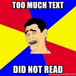 journalist - Too Much Text Did Not Read