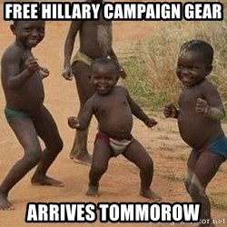 Dancing african boy - Free hillary campaign gear arrives tommorow