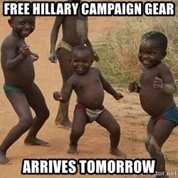 Dancing african boy - free hillary campaign gear arrives tomorrow