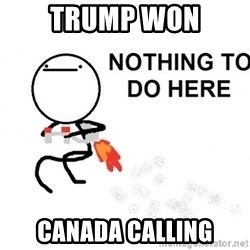 Nothing To Do Here (Draw) - Trump won Canada calling