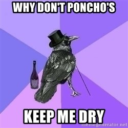 Rich Raven - why don't poncho's keep me dry