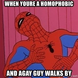 Spidermantripping - WHEN YOURE A HOMOPHOBIC AND AGAY GUY WALKS BY
