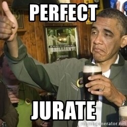 THUMBS UP OBAMA - PERFECT JURATE