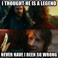 Never Have I Been So Wrong - I thought he is a Legend Never have I been so wrong
