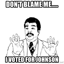 aysi - Don't blame me..... I voted for Johnson