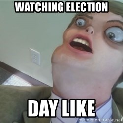 Omg Rage Face - watching election day like