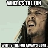 Jack Sparrow Reaction - where's the fun why is the fun always gone