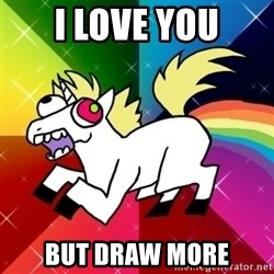 Lovely Derpy RP Unicorn - I LOVE YOU BUT DRAW MORE