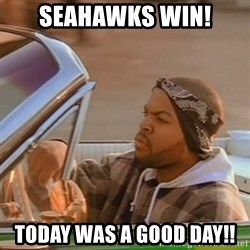 Good Day Ice Cube - Seahawks Win! Today was a good day!!